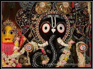 Mayapur Jagannath in Gaja-vesa (Elephant Dress)