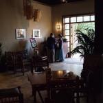 View from inside Govinda's Restaurant
