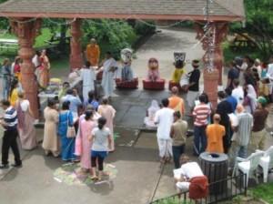 New Vrindaban Snan Yatra Celebration