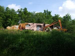 Pink Building Demolition