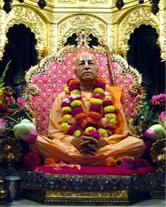Srila Prabhupada at his Palace.