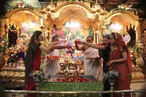 New Vrindaban Abhishek of deities