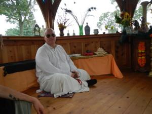 Bhakta Josef on the Govardhan Parikrama