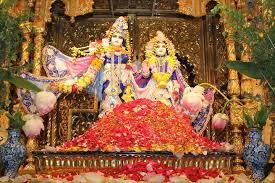 New Vrindaban ISKCON Sri Sri Radha Vrindaban Chandra Puspanjali flowers