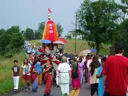 New Vrindaban ratha yatra 2012