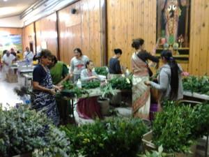 flower arrangements Radha Vrindavan Chandra Krishna Janmastami New Vrindaban 2014
