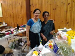 Vijaya Radha, organizer of flower team, and a hard worker pujari, Mangalacarana. Radha Vrindavan Chandra Krishna Janmastami New Vrindaban 2014