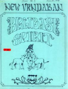 New Vrindaban Brijabasi Spirit 1974