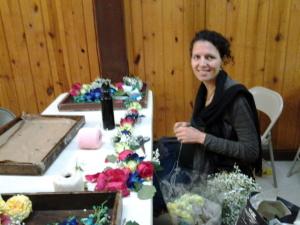 Krsna Priya New Vrindaban flower garlands Radha Vrindaban Chandra