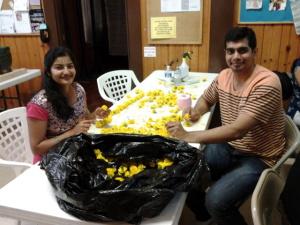 New Vrindaban Flower Garlands Radha Vrindaban Chandra