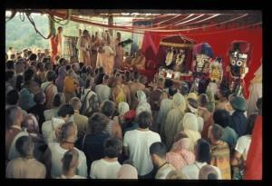 New Vrindaban Prabhupada Bhagavat Dharma on Govindaji Hill 1972
