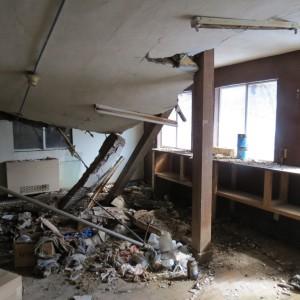 New Vrindaban Bahulaban Utility Building Damage 2014