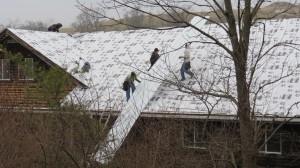 New Vrindaban Utility Building New Roof 2014.