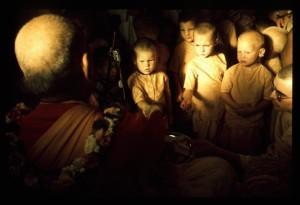 Prabhupada Sharing Cookies With Gurukula Boys in Bahulaban Temple Room - New Vrindaban 1976
