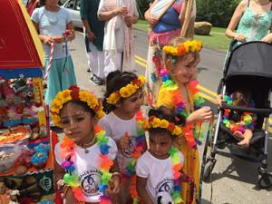 New Vrindaban Gopal's Garden Preschool ratha yatra kids ISKCON