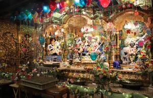 ISKCON New Vrindaban Altar Radha Vrindavanchandra, Gaura Nitai Gopal Nathaji Radhastami 2015.