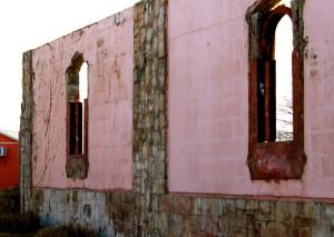 Prabhupada's Palacewall renovation New Vrindaban ISKCON