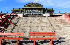 Prabhupada's Palace of Gold steps construction 2015 ISKCON New Vrindaban