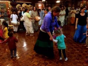 Dancing in NV at Nityananda Triyodasi