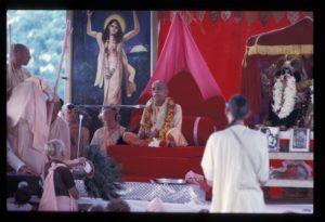 Prabhupada ISKCON New Vrindaban Bhagavat Dharma Govindaji Hill Bahulaban 1972