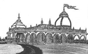 Prabhupada's Palace New Vrindaban ISKCON artistic rendering 1974