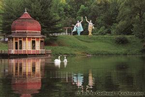 ISKCON New Vrindaban Swans Lake Gaura Nitai