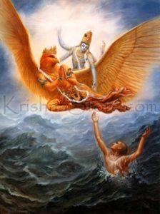 Vishnu Garuda Devotee Ocean