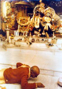 Prabhupada obeisances Radha Govinda Henry Street