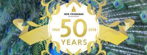 New Vrindaban ISKCON 50th Anniversary Banner