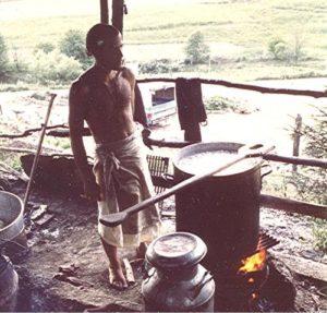 Taru in the Bahulaban pits mid 1970s New Vrindaban ISKCON