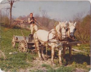 ISKCON New Vrindaban Bahulaban Advaitacarya Horses 1970s